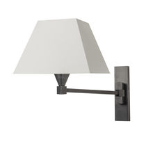 Traditional wall light / nickel / cotton / halogen