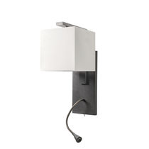 Traditional wall light / metal / fabric / LED