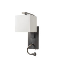 Contemporary wall light / bronze / fabric / LED