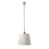 Pendant lamp / traditional / chromed metal / nickel