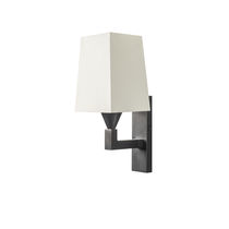 Contemporary wall light / cotton / halogen / rectangular