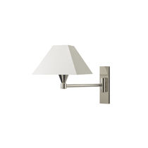 Contemporary wall light / bathroom / brass / cotton