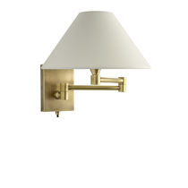 Traditional wall light / cotton / halogen / swing-arm