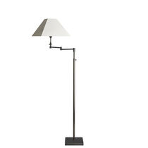 Floor-standing lamp / traditional / cotton / swing-arm