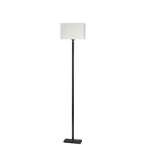 Floor-standing lamp / traditional / cotton / white