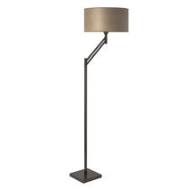 Floor-standing lamp / traditional / brass / cotton