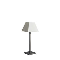 Table lamp / traditional / cotton / white