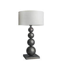 Table lamp / traditional / brass / cotton