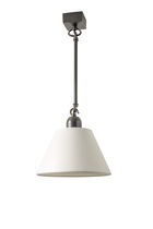Pendant lamp / contemporary / cotton / white