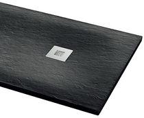Rectangular shower base / resin / non-slip / extra-flat