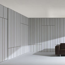 MDF decorative panel / for interior fittings / wall-mounted / stained