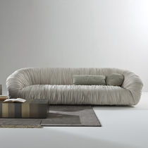 Contemporary sofa / for reception areas / velvet / wooden