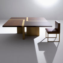 Contemporary table / wooden / square / for offices