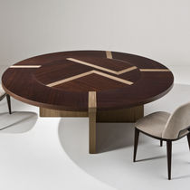 Contemporary table / wooden / round / for offices