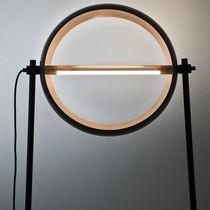 Floor-standing lamp / original design / iron / copper