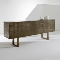Contemporary sideboard / wooden / metal / marble