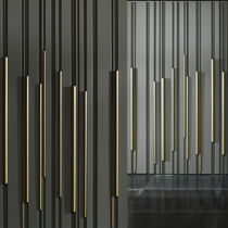 Wood decorative panel / wall-mounted / lacquered / 3D effect