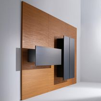 Wood decorative panel / metal / solid wood / wall-mounted
