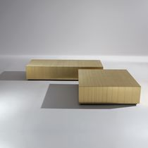 Contemporary coffee table / steel / copper / brass