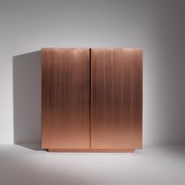 High sideboard / contemporary / wooden / lacquered wood