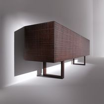 Sideboard with long legs / wall-mounted / contemporary / wooden