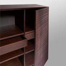 Sideboard with long legs / high / contemporary / wooden