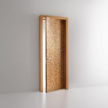 Indoor door / swing / wooden / for public buildings