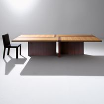 Contemporary table / wooden / rectangular / square