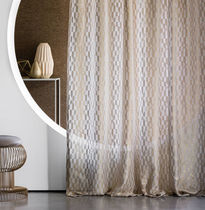 Patterned sheer curtain fabric / residential