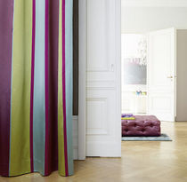 Curtain fabric / striped / cotton / silk