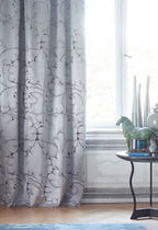Curtain fabric / patterned / silk / damask