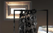 Patterned sheer curtain fabric / polyester