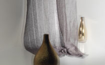 Curtain fabric / striped / linen