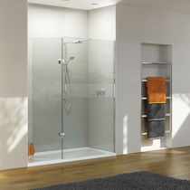 Swing shower screen / for alcove / glass