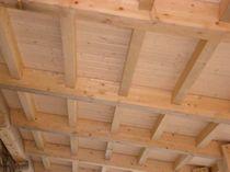 Roof sandwich panel / wood facing / polystyrene core