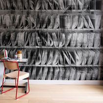 Contemporary wallpaper / fabric / vinyl / bookshelf