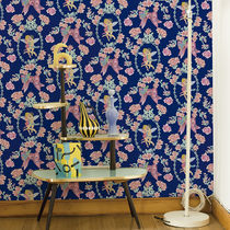 Contemporary wallpaper / fabric / toile de jouy-pattern / non-woven