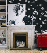 Contemporary wallpaper / fabric / animal motif / non-woven
