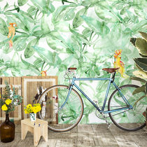 Contemporary wallpaper / fabric / nature pattern / animal motif