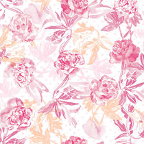 Contemporary wallpaper / fabric / floral pattern / non-woven