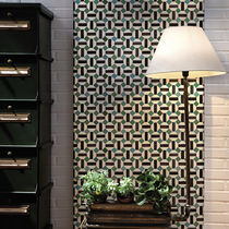 Contemporary wallpaper / fabric / geometric pattern / plaid