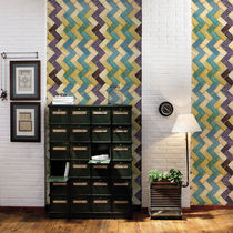 Contemporary wallpaper / fabric / geometric pattern / non-woven