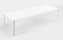 Contemporary table / wooden / rectangular / extending