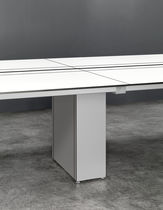 Contemporary boardroom table / glass / laminate / rectangular