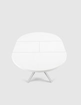 Contemporary table / MDF / aluminum / round