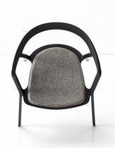 Contemporary chair / stackable / with armrests / fabric