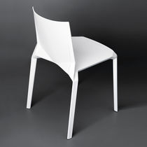 Contemporary garden chair / stackable / plastic / for hotels