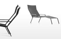 Contemporary sun lounger / polyester / garden / stackable