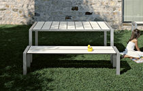 Garden bench / contemporary / metal