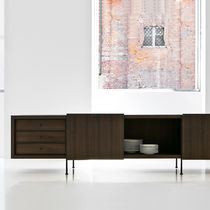 Contemporary sideboard / metal / eucalyptus / by Piero Lissoni